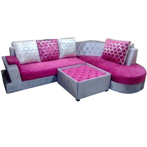 Silver And Pink Living Room Sofa Set, Rs 31000 /set, Rattan Interior ...