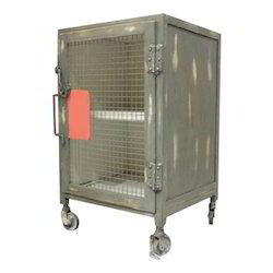 Mild Steel Cage Look Cabinet, For Office, Home