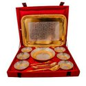 Silver & Gold Plated Brass Pudding Set 15 Pcs.
