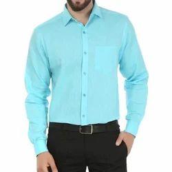 Cotton Mens Plain Shirt, Size: Small, Medium, Large, XL