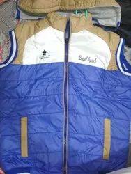 Full Sleeve Reversible Jackets Men Blue And Mustard Sleeveless Padded Jacket