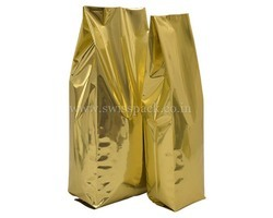 Shiny Gold Side Gusset Bags