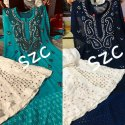 Chiffon lucknowi suits