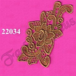 Applique Gold Zari Work Patch