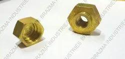 Golden Brass Hex Nut