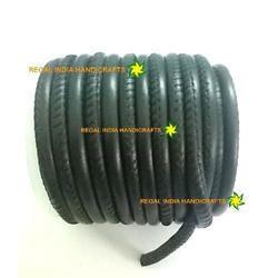 Black Round Stitched Napa Cord
