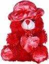 High Quality Fibre Red 23 Cm Cap Teddy Bear, For Home, 200g