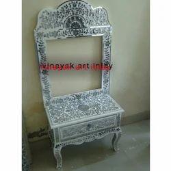 Thikri Glass Decorative Drawer Table