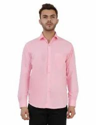 Pink Color Formal Mens Shirt