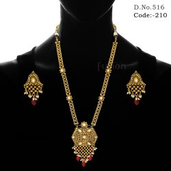 Antique Traditional Long Necklace Set