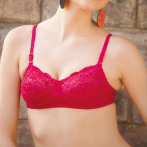 e3df9da137639 Nest Quality Inner Wear Red Ladies Lace Bra