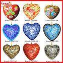 Christmas Ornament Heart Decoration Paper Mache Custom Design