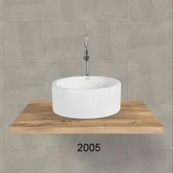White Round Table Top Wash Basin