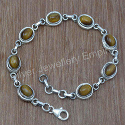 Gemstone 925 Sterling Silver Bracelet