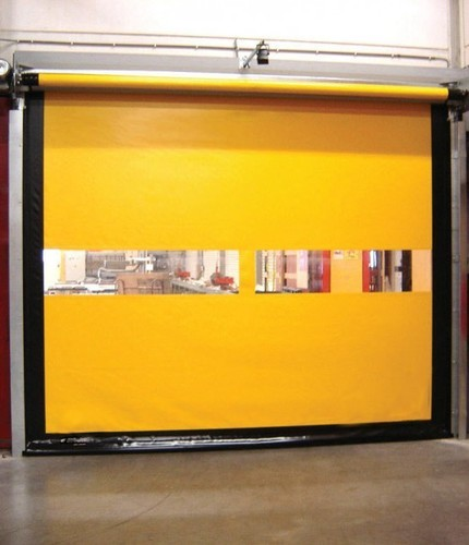 Toshi Yellow PVC Roll Up Doors