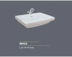 Scoware Wall Mounted Spice Wash Basin, For Bathroom