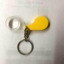 Yellow Key Chain Magnifier