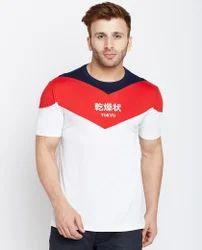 Men Graphic Design Round Neck T-Shirt