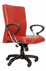 Medium Back Red Cushion Chair