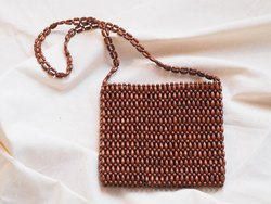 Wooden Beaded Bag