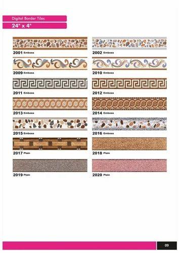 Variety Porcelain Designer Border Tiles