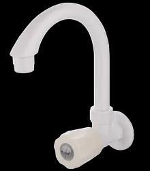 Modern White PTMT Sink Cock, For Bathroom Fittings, Size: 15MM