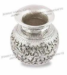 Antique Silver Plated Metal Kalash