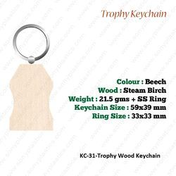 Wooden KeyChain-KC-31-Trophy