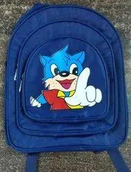 Polyester Blue Kids Designer School Bag
