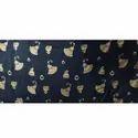 Rayon 140 GSM Gold Print Fabric