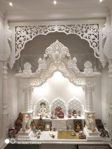 White Marble Pooja Room Home Temple Rs 1600000 Number