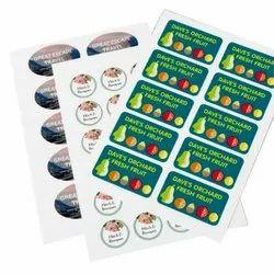 Mutlicolor Digital Multicolor Printed Paper Sticker, Packaging Type: Roll