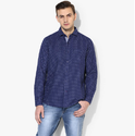 Blue 38 And 44 Mens Blue Regular Fit Casual Shirt 8110374