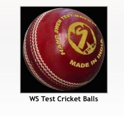 WS Cricket Leather Ball