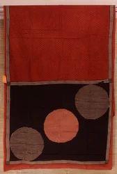 Silk Hand Block Printed Saree, Length: 6 m
