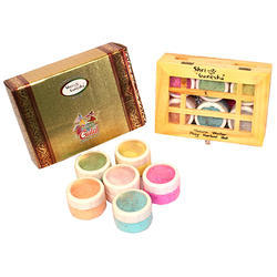 Herbal Gulal Color Powder (wooden Box)