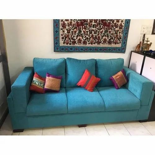 3 Modern Sky Blue Three Seater Sofa Living Room Rs 32000 Piece Kouches Id 7277963673