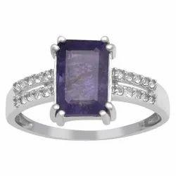 925 Sterling Silver Natural Faceted Tanzanite Gemstone Handmade Ring