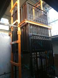 Hydraulic Goods Lift Dual Mast