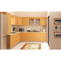 L Shape Wooden Modular Kitchen