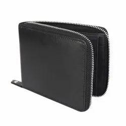 Leather metal zip Wallet