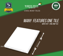 Flat Roof Tile White Feet