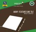 Flat Roof Tile White Feet