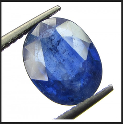 4.19cts 4.65 Ratti Natural Blue Sapphire/neelam(for Shani), Shape: Oval