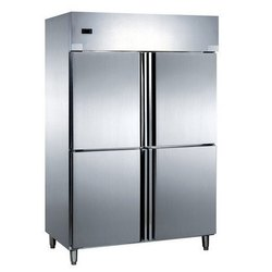 Silver Stainless Steel SS Four Door Refrigerator, -18 Degree Celsius, for Commercial