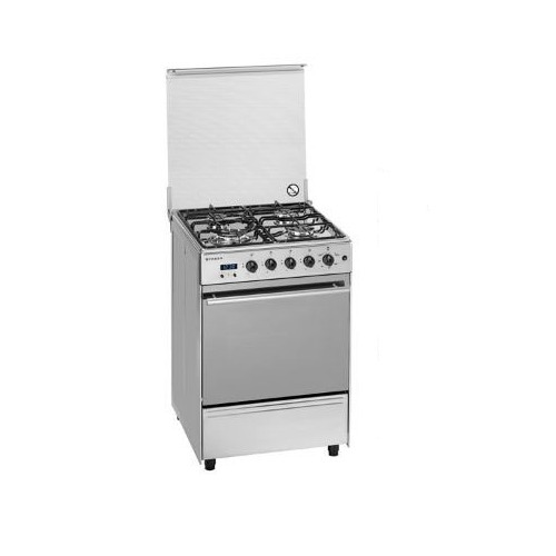 Silver Stainless Steel Cooking Range