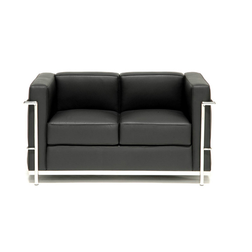 2 Seater Stainless Steel And Leather Office Sofa, Rs 18000 /piece ...