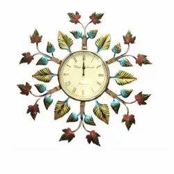 Wrought Iron and Gunmetal Decorative Wall Clock