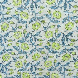 Jaipuri Floral Block Print Multi Color Fabric
