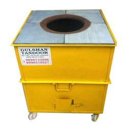 Square Yellow Kota Stone Top Mild Steel Tandoor, For Restaurant, Capacity: 15-20 Roti Per Minute